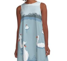 Swans A-Line Dress