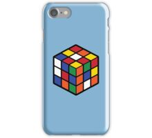 Rubik's Cube - Regular Body Black Large iPhone Case/Skin