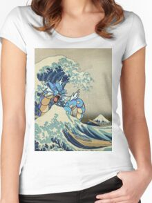 The Great Wave Off Gyarados Women's Fitted Scoop T-Shirt