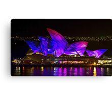 Panel Sails - Sydney Vivid Festival - Sydney Opera House Canvas Print