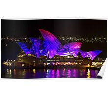 Panel Sails - Sydney Vivid Festival - Sydney Opera House Poster
