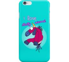 i love fluffy unicorns 2 iPhone Case/Skin