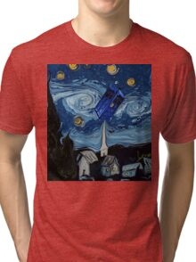 starry night tardis Tri-blend T-Shirt