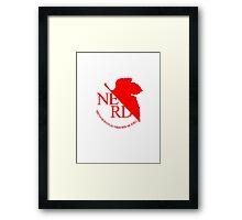 NGE NERD Framed Print