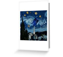 starry night tardis Greeting Card