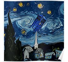 starry night tardis Poster