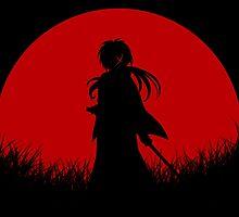 Red Moon Samurai by jpmdesign