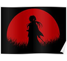 Red Moon Samurai Poster