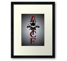 Ace Tattoo Framed Print