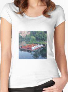 Boston Swan Boats Women's Fitted Scoop T-Shirt