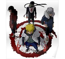 4 circle sealed hokage Poster