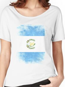 Guatemala Flag Proud Guatemalan Vintage Distressed Women's Relaxed Fit T-Shirt