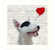 English Bull Terrier Banksy Style Art Print