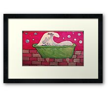 A Wave from the Bath Framed Print
