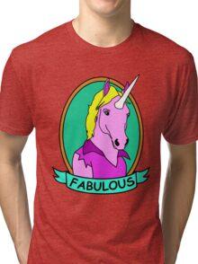 Fabulous Unicorn Tri-blend T-Shirt