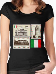 Italy Symbols Women's Fitted Scoop T-Shirt