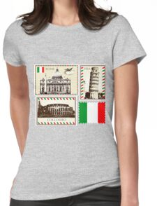 Italy Symbols Womens Fitted T-Shirt
