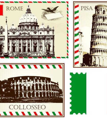 Italy Symbols Sticker