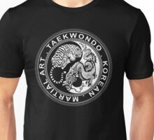taekwondo beast dragon tiger korean martial art sport kick dark or black shirt  Unisex T-Shirt