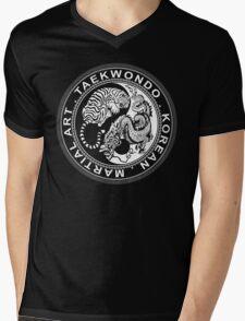 taekwondo beast dragon tiger korean martial art sport kick dark or black shirt  Mens V-Neck T-Shirt