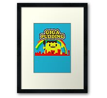 giga pudding shirt Framed Print
