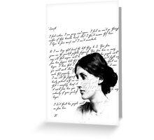 virginia woolf Greeting Card