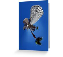 Squeezed Los Angeles Highrise Palm Tree Abstract Greeting Card
