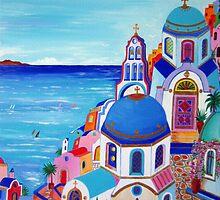 Colorful Oia Santorini by Roberto Gagliardi