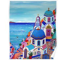 Colorful Oia Santorini Poster