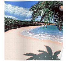 Pixel Beach Poster