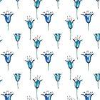Watercolor blue bellflowers by olarty
