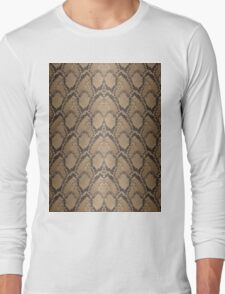 Golden Brown Python Snake Skin Reptile Scales Long Sleeve T-Shirt