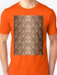Golden Brown Python Snake Skin Reptile Scales Unisex T-Shirt