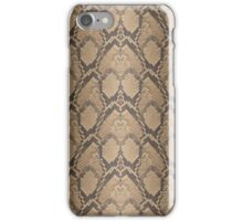 Golden Brown Python Snake Skin Reptile Scales iPhone Case/Skin