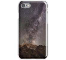 Galaxy rising over the remarkables iPhone Case/Skin