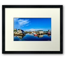 Calm Water at Peggys Cove Framed Print