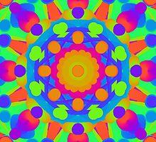 Psychedelic kaleidoscope 1 by chloemease