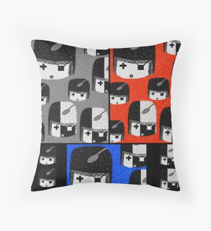 Pirate Girl Wall Paper Throw Pillow