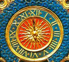 Ancient Gold Clock by aurielaki