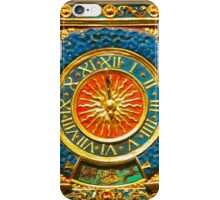 Ancient Gold Clock iPhone Case/Skin