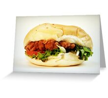 Chicken burger Greeting Card