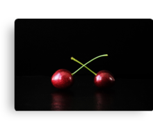 Two Cherries Canvas Print