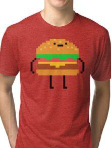 hamburger pixel Tri-blend T-Shirt