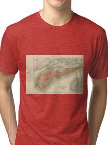 Vintage Geological Map of Nova Scotia (1906) Tri-blend T-Shirt