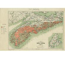 Vintage Geological Map of Nova Scotia (1906) Photographic Print