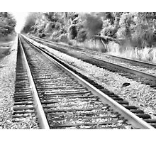Lonely tracks Photographic Print