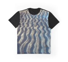 Curvy Lines of a Beach Kissed by Ocean Waves Graphic T-Shirt