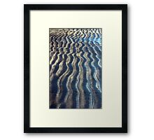 Curvy Lines of a Beach Kissed by Ocean Waves Framed Print