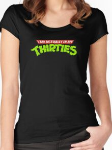 I am  Actually In My Thirties Women's Fitted Scoop T-Shirt
