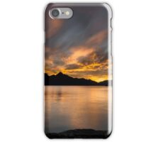Sunset behind the mountains iPhone Case/Skin
